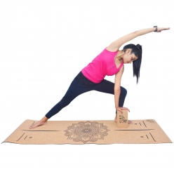 Grip Cork Yoga Mat 3 mm with 1 Cork Yoga Brick