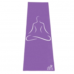 Grip 24 Inches x 72 Inches, 6MM Thickness,Light Purple Color, OnTheGoSeries,Yog Asana Design Yoga Mats For Men & Women.