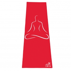Grip 24 Inches x 72 Inches, 6MM Thickness,Red Color, OnTheGoSeries,Yog Asana Design Yoga Mats For Men & Women.