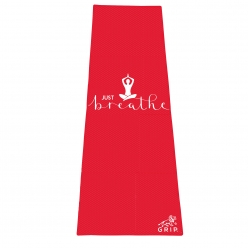 Grip 24 Inches x 72 Inches, 6MM Thickness, Red Color, OnTheGoSeries,Just Breathe Design Yoga Mats For Men & Women.