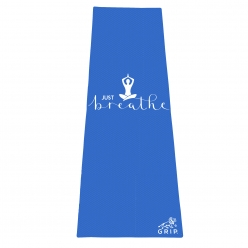 Grip 24 Inches x 72 Inches, 6MM Thickness, Blue, OnTheGoSeries,Just Breathe Design Yoga Mats For Men & Women.