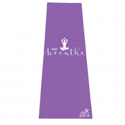 Grip 24 Inches x 72 Inches, 6MM Thickness, Light Purple Color, OnTheGoSeries,Just Breathe Design Yoga Mats For Men & Women.