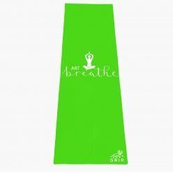 Grip 24 Inches x 72 Inches, 6MM Thickness,Parrot Green Color, OnTheGoSeries,Just Breathe Design Yoga Mats For Men & Women.
