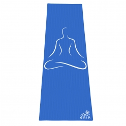 Grip 24 Inches x 72 Inches, 6MM Thickness,Blue Color, OnTheGoSeries,Yog Asana Design Yoga Mats For Men & Women.