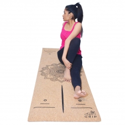 Grip Cork Yoga Mat 5 mm with 1 Cork Yoga Brick