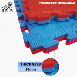 Grip Interlocking Mats for Kabaddi 1 Meter x 1 Meter, with 35 MM Thickness, Specially designed for Outdoor and Indoor, and very well Suitable for Professional, as well as Beginners | Regular Quality