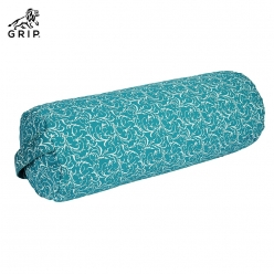 Grip Yoga & Meditation Buckwheat Hulls Filling Bolster Pillow for Restorative Asanas & Inversion Postures that provides relaxation & body support (Blue Colour)