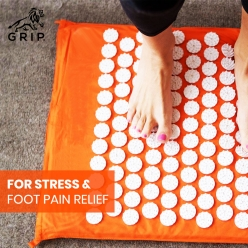 Acupressure Mat for Back Pain Relief and Muscle Relaxation (Orange colour)