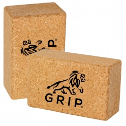Grip Eco-Friendly & Sustainable Cork Yoga Brick (Set of 2) to Support, Improve & Strengthen your reach and make more difficult poses accessible.