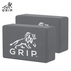 Grip High Density EVA Foam Blocks to Support and Deepen Poses, that Improves,  Strengthen, Aid Balance and Increase Flexibility - Lightweight | Odor Resistant | Set Of 2 | Grey Color