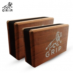 Grip High Density EVA Foam Blocks to Support and Deepen Poses, that Improves,  Strengthen, Aid Balance and Increase Flexibility - Lightweight | Odor Resistant | Set Of 2 | Brown Color