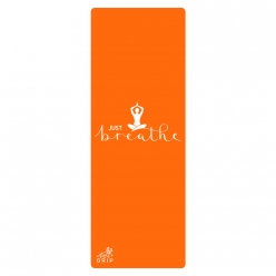 Grip Just Breathe Orange Yoga Mat