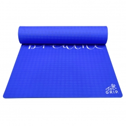 Grip 36 Inches x 78 Inches, 12MM Thickness, Blue Color, Just Breathe Design Yoga Mats For Men & Women.