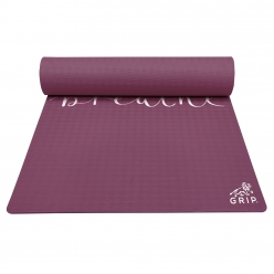 Grip 36 Inches x 78 Inches, 6MM Thickness, cherry Color, Just Breathe Design Yoga Mats For Men & Women.