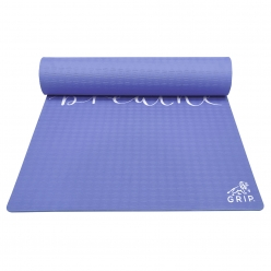 Grip 36 Inches x 78 Inches, 12MM Thickness, Navy Blue Color,   Just Breathe Design Yoga Mats For Men & Women.