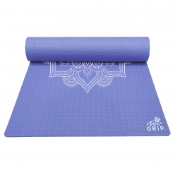 Grip 36 Inches x 78 Inches, 12MM Thickness, Navy Blue Color,   Mandala Design Yoga Mats For Men & Women.