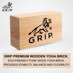 Grip Eco-Friendly Wooden Yoga Brick, that Provides Stability, Balance and Flexibility during poses & workouts