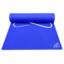 Grip 36 Inches x 78 Inches, 6MM Thickness, Blue Color, Yog Asana Design Yoga Mats For Men & Women.