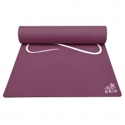 Grip 36 Inches x 78 Inches, 12MM Thickness, Cherry Color, Yog Asana Design Yoga Mats For Men & Women.