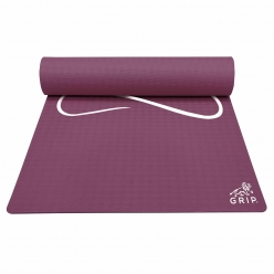 Grip 36 Inches x 78 Inches, 8MM Thickness, Cherry Color, Yog Asana Design Yoga Mats For Men & Women.