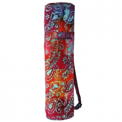 Grip Printed Designer Yoga Bag with a small zipper pocket.