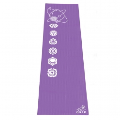 Grip 24 Inches x 72 Inches, 6MM Thickness, Light Purple Color, OnTheGoSeries Design Yoga Mats For Men & Women.