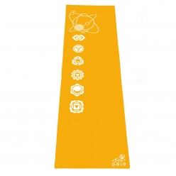 Grip 24 Inches x 72 Inches, 6MM Thickness, Orange Color, OnTheGoSeries Design Yoga Mats For Men & Women.