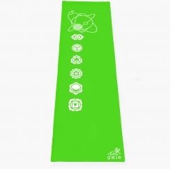 Grip 24 Inches x 72 Inches, 6MM Thickness, Parrot Green Color, OnTheGoSeries Design Yoga Mats For Men & Women.
