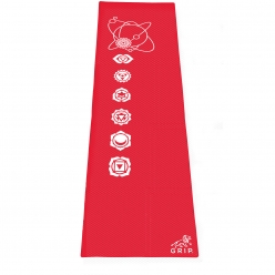 Grip 24 Inches x 72 Inches, 6MM Thickness, Red Color, OnTheGoSeries Design Yoga Mats For Men & Women.