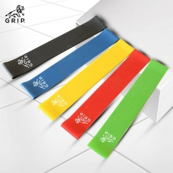 Grip Resistance Bands / Training Bands / Elastic Bands (Set of 5) with different resistance strength level for Squats, Hips, Legs, Butt, Glutes and Full Body Workouts at Home, Gym or while travelling