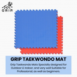 Grip Interlocking Mats For Taekwondo 1 Meter X 1 Meter, With 25 MM Thickness, Specially Designed For Outdoor And Indoor, And Very Well Suitable For Professional, As Well As Beginners   Standard Quality