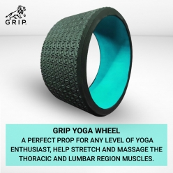 Grip Yoga Wheel - A Perfect prop for any level of yoga enthusiast, help stretch and massage the thoracic and lumbar region muscles improving strength, flexibility, and balance, High Quality; 13 Inches Diameter | Green Color