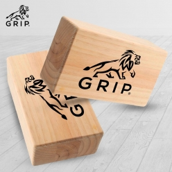 Grip Eco-Friendly Wooden Yoga Brick, that Provides Stability, Balance and Flexibility during poses & workouts (Set of 2)