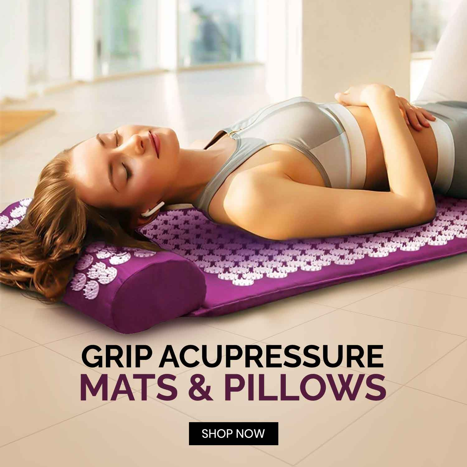 Grip Accupressure Mat Pillows